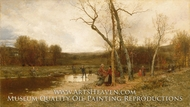 Saturday Afternoon painting reproduction, Jervis McEntee