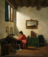 Scholar painting reproduction, Abraham van Strij