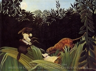 Scout Attacked by a Tiger painting reproduction, Henri Rousseau