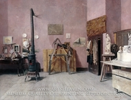 Sculptor's Studio painting reproduction, Louis Moeller
