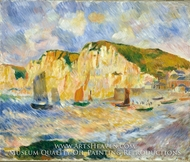 Sea and Cliffs painting reproduction, Pierre-Auguste Renoir