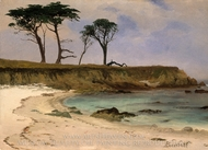 Sea Cove painting reproduction, Albert Bierstadt