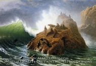 Seal Rock by Albert Bierstadt