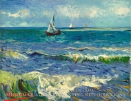 Seascape near Les Saintes Maries de la Mer by Vincent Van Gogh
