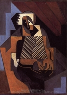 Seated Peasant Woman painting reproduction, Juan Gris