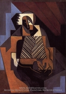 Seated Peasant Woman by Juan Gris