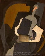 Seated Woman painting reproduction, Diego Rivera