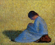 Seated Woman painting reproduction, Georges Seurat