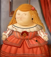 Segun Velazquez painting reproduction, Fernando Botero