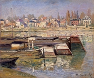 Seine at Asnieres painting reproduction, Claude Monet