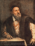 Self-Portrait painting reproduction, Titian