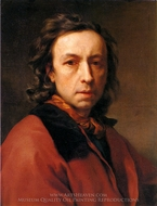 Self-Portrait painting reproduction, Anton Raphael Mengs