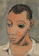 Self-Portrait painting reproduction, Pablo Picasso (inspired by)