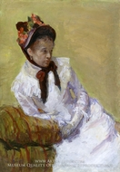 Self-Portrait painting reproduction, Mary Cassatt