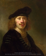 Self-Portrait Aged 24 painting reproduction, Govert Flinck