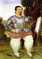 Self-Portrait as Spanish Conquistador by Fernando Botero