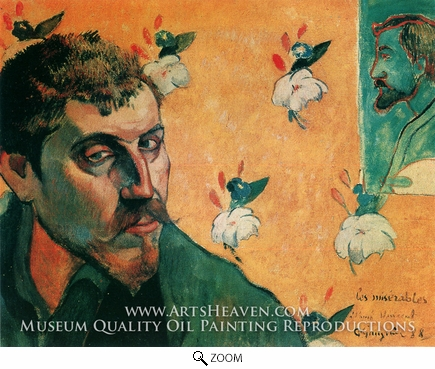 Painting Reproduction of Self Portrait, Les Miserables, Paul Gauguin