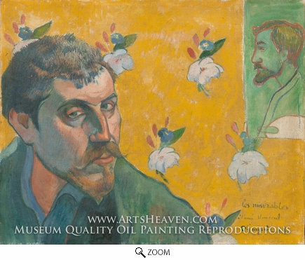 Painting Reproduction of Self-Portrait, Les Miserables, Paul Gauguin