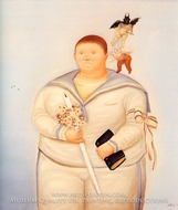 Self-Portrait (My First Communion) painting reproduction, Fernando Botero