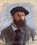 Self Portrait with Beret by Claude Monet