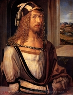 Self-Portrait with Gloves painting reproduction, Albrecht Durer
