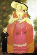 Self-Portrait with Madame Pompadour painting reproduction, Fernando Botero