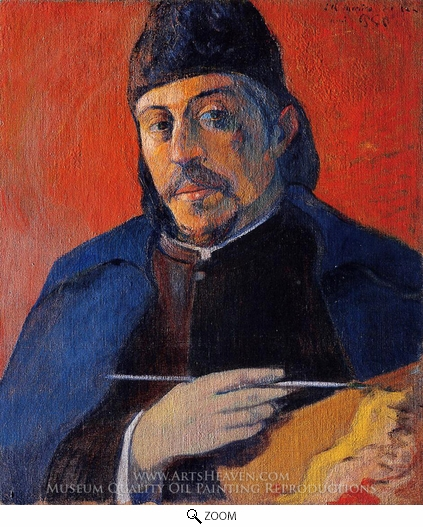 Painting Reproduction of Self-Portrait with Palette, Paul Gauguin