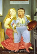 Self-Portrait with Sofia by Fernando Botero