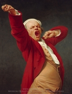Self-Portrait, Yawning painting reproduction, Joseph Ducreux