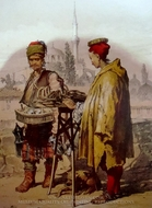 Sellers In Istanbul 1 painting reproduction, Amedeo Preziosi