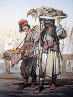 Sellers In Istanbul 2 painting reproduction, Amedeo Preziosi