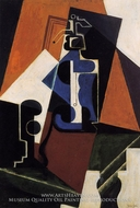 Seltzer Bottle and Glass by Juan Gris