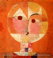 Senecio painting reproduction, Paul Klee