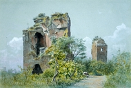 Sette Sale (Villa Brancaccio, Rome) painting reproduction, William Stanley Haseltine