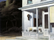 Seven a.m. painting reproduction, Edward Hopper