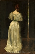Seventeenth Century Lady painting reproduction, William Merritt Chase