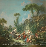 Shepherd's Idyll painting reproduction, Francois Boucher