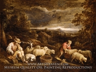Shepherds and Sheep painting reproduction, David Teniers, The Younger