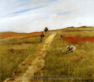 Shinnecock Hills painting reproduction, William Merritt Chase