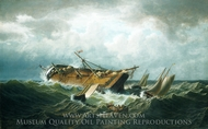 Shipwreck off Nantucket (Wreck off Nantucket after a Storm) painting reproduction, William Bradford