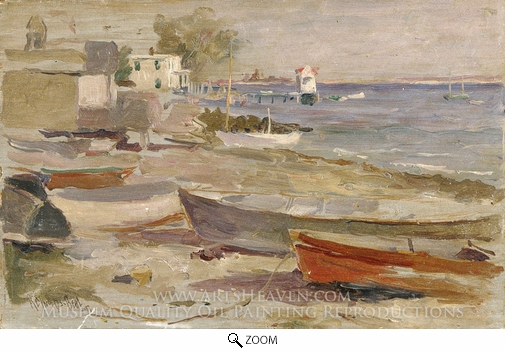 Reynolds Beal, Shore at Orient, Long Island oil painting reproduction