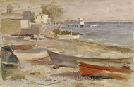 Shore at Orient, Long Island painting reproduction, Reynolds Beal
