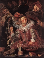 Shrovetide Revellers painting reproduction, Frans Hals