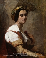 Sibylle painting reproduction, Jean-Baptiste Camille Corot