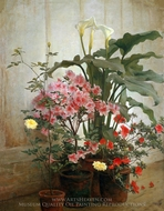 Side of a Greenhouse painting reproduction, George Cochran Lambdin