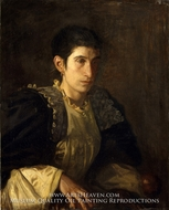 Signora Gomez d'Arza painting reproduction, Thomas Eakins