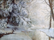 Silent Dawn painting reproduction, Walter Launt Palmer