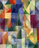Similtaneous Open Windows painting reproduction, Robert Delaunay