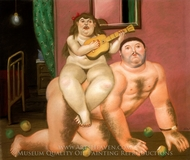 Sin Titulo painting reproduction, Fernando Botero