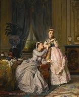Sisters painting reproduction, Charles Edouard Boutibonne